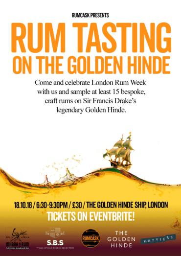 Craft Rum Tasting on The Golden Hinde