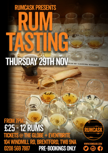 RumCask Presents: Rum Tasting at the Globe
