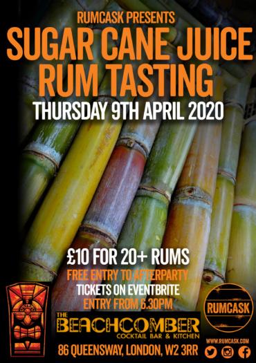 Sugar Cane Rum Tasting at The Beachcomber